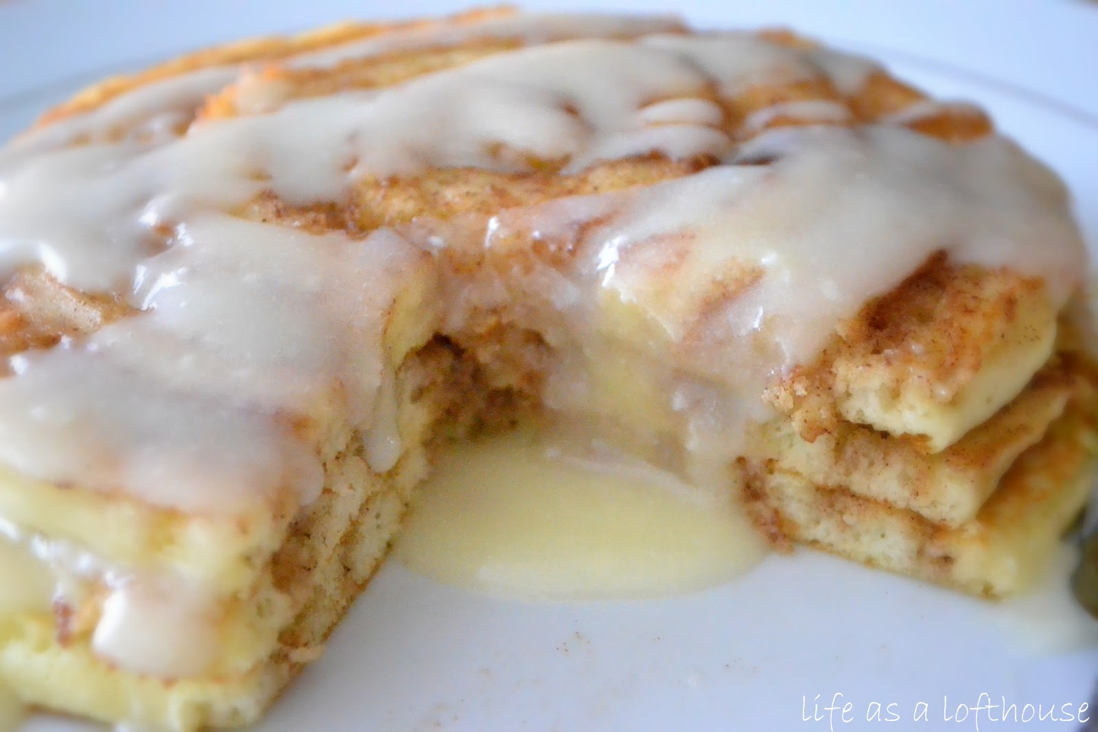 Cinnamon Roll Pancakes | Pat's Friends Recipes